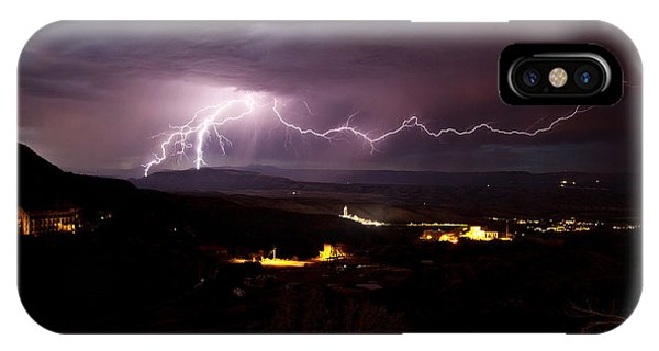 Monsoon Lightning In Jerome Az IPhone Case