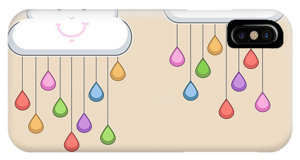 Happy iPhone Case - Monsoon Season Background With Happy by Allies Interactive