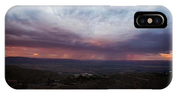 Monsoon Sunset With Vertical Rainbow IPhone Case