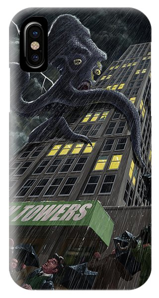 Monster Octopus Attacking Building In Storm IPhone Case