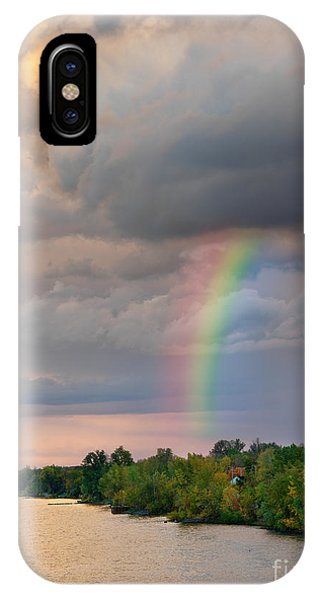 Mont Saint Hilaire Quebec Canada Rainbow IPhone Case