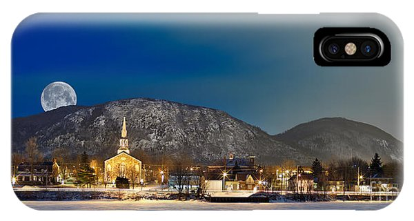 Mont Saint Hilaire Quebec Winter Panorama IPhone Case