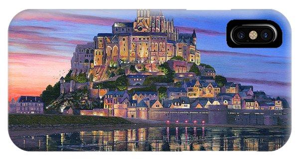 Normandy iPhone Case - Mont Saint-michel Soir by Richard Harpum