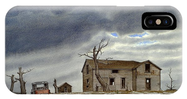Truck iPhone Case - Montana Abandoned Homestead by Paul Krapf