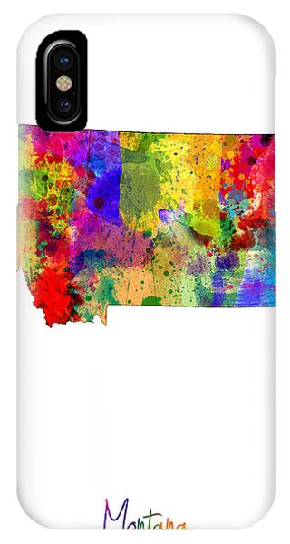 Montana State iPhone Case - Montana Map by Michael Tompsett