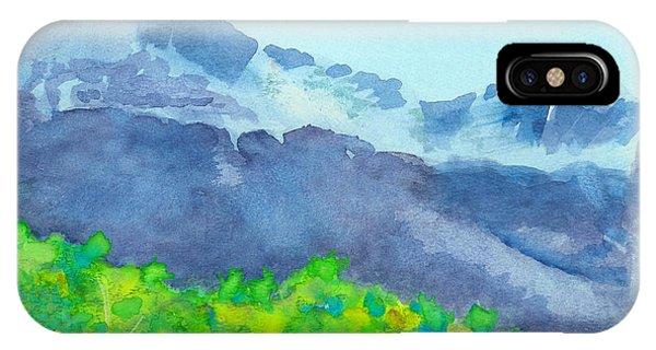 Montana Mountain Mist IPhone Case
