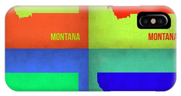 Florida iPhone Case - Montana Pop Art Map 1 by Naxart Studio