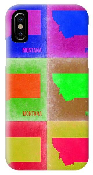 Florida iPhone Case - Montana Pop Art Map 2 by Naxart Studio