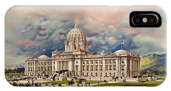 Capitol Building iPhone Case - Montana State Capitol - 1896 by Mountain Dreams