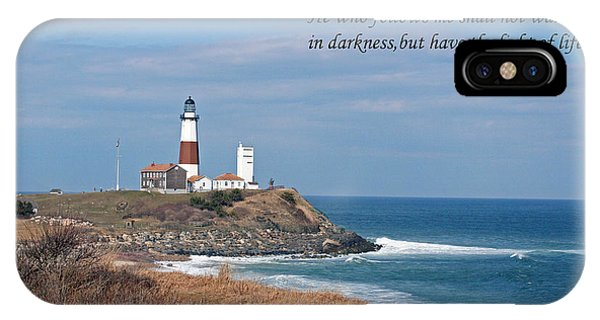Montauk Lighthouse/camp Hero/inspirational IPhone Case