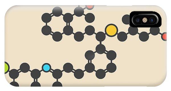 Chronic iPhone Case - Montelukast Drug Molecule by Molekuul