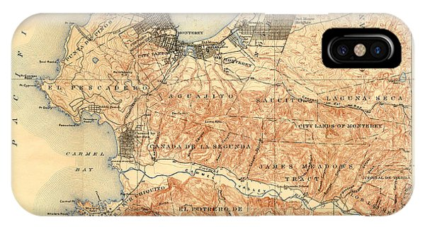 Monterey And Carmel Valley  Monterey Peninsula California  1912 IPhone Case
