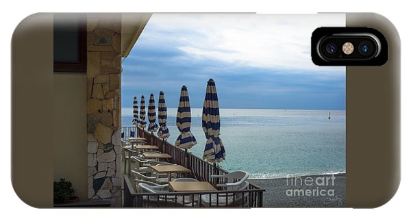 Monterosso Outdoor Cafe IPhone Case