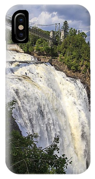 Quebec City iPhone Case - Montmorency Falls Park Quebec City Canada by Edward Fielding