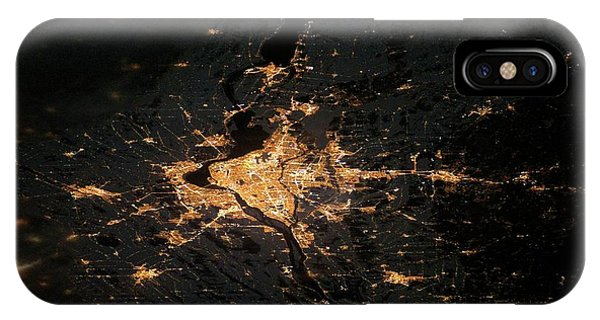 Quebec City iPhone Case - Montreal At Night From Space by Nasa/science Photo Library