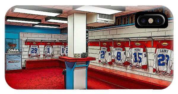 Montreal Canadians Hall Of Fame Locker Room IPhone Case