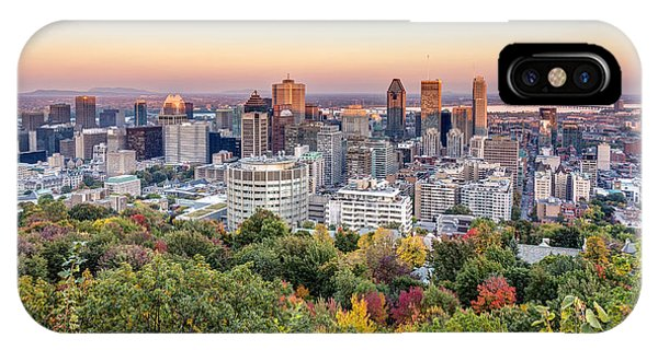 IPhone Case featuring the photograph Montreal City In Autumn by Pierre Leclerc Photography