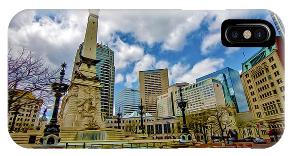 Monument Circle Indianapolis Wide IPhone Case