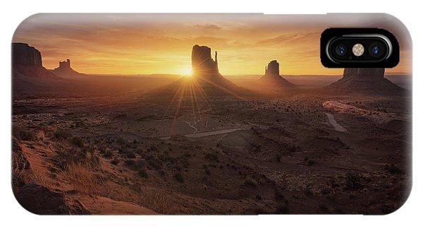 Rock Formation iPhone Case - Monument Sunrise. by Juan Pablo De