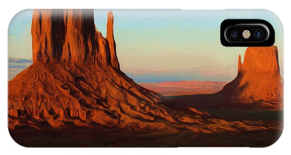 Abstract Landscape iPhone Case - Monument Valley 2 by Inspirowl Design