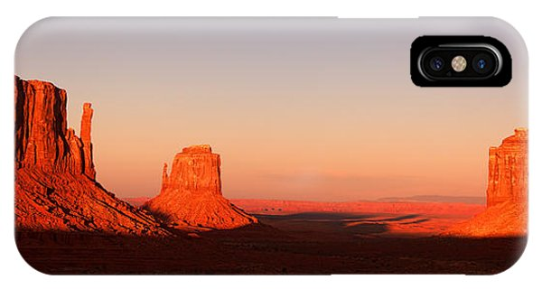 American Indian iPhone Case - Monument Valley Sunset Pano by Jane Rix