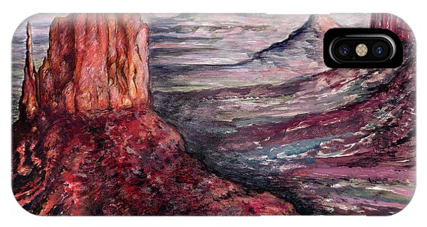 Monument Valley Arizona - Landscape Art Painting IPhone Case