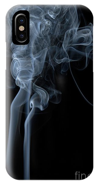Abstract Vertical White Mood Colored Smoke Wall Art 02 IPhone Case