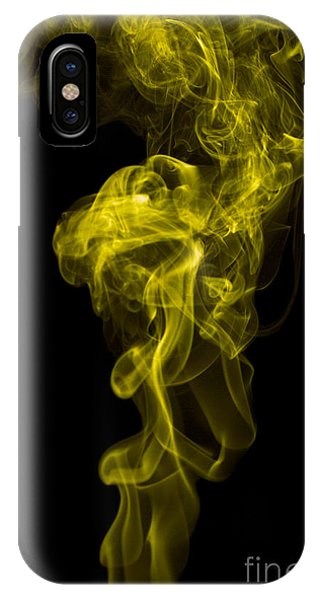 Mood Colored Abstract Vertical Yellow Smoke Wall Art 01 IPhone Case