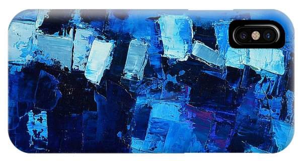 Fauvism iPhone Case - Mood In Blue by Elise Palmigiani