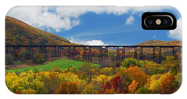 Trestle iPhone Case - Moodna Creek Viaduct by Guy Harnett