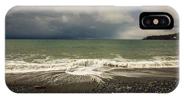 Moody Swirl French Beach IPhone Case