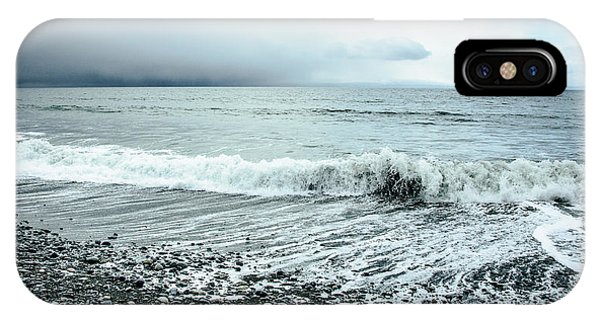 Moody Shoreline French Beach IPhone Case