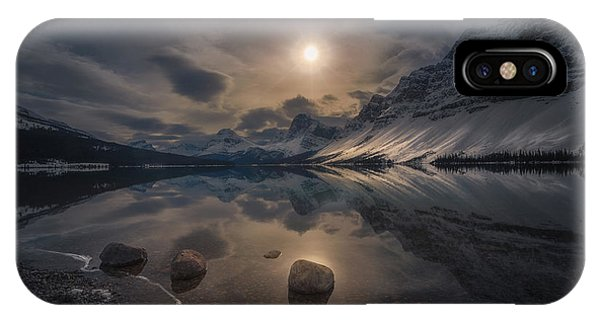 Banff iPhone Case - Moody Lake by Jerrywangqian