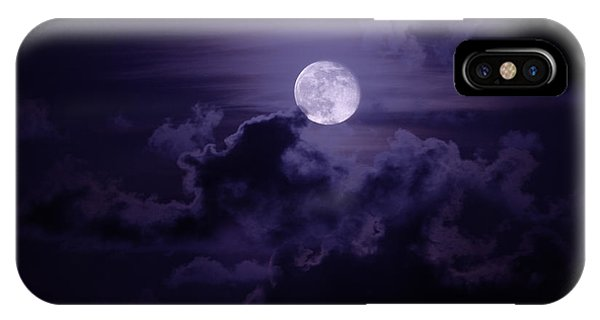 Super Moon iPhone Case - Moody Moon by Chad Dutson