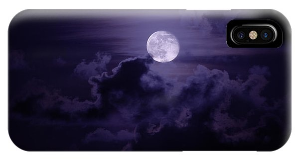 Coast iPhone Case - Moody Moon by Chad Dutson