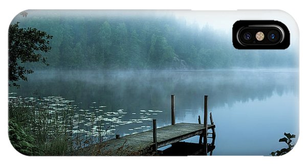 Pier iPhone Case - Moody Morning by Christian Lindsten