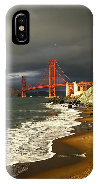 IPhone Case featuring the photograph Moody On Gold  by Michael Hope
