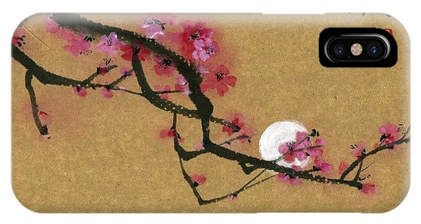 Moon And Plum IPhone Case