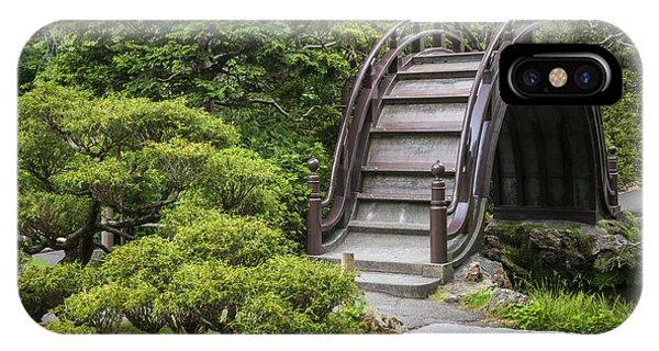 Bay Bridge iPhone Case - Moon Bridge - Japanese Tea Garden by Adam Romanowicz