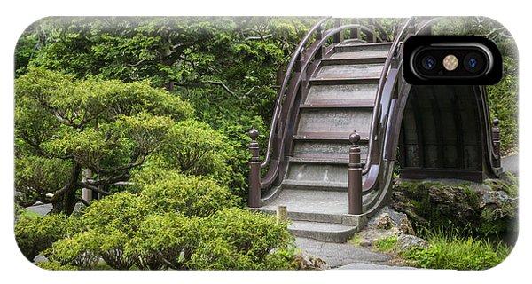 Bridge iPhone Case - Moon Bridge - Japanese Tea Garden by Adam Romanowicz