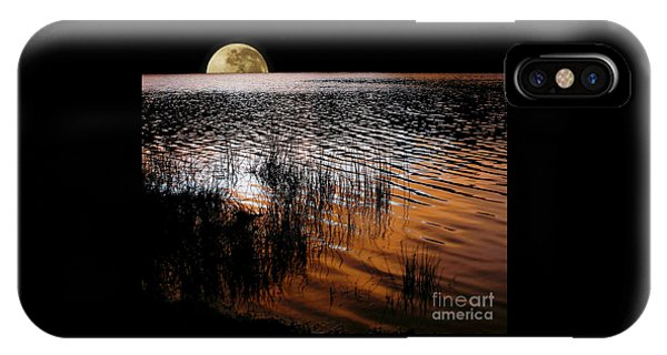 Moon Catching A Glimpse Of Sunset IPhone Case