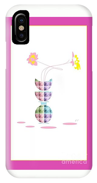 Moon Flower 2 IPhone Case