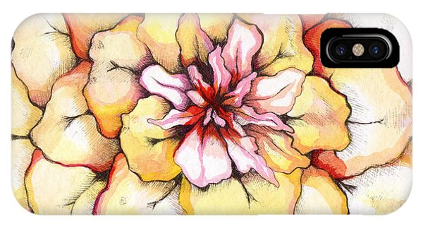 Succulent iPhone Case - Moon Flower Out Of The Bloomers And Onto The Bloom by Shadia Derbyshire