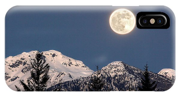IPhone Case featuring the photograph Moon Glow Whistler Canada by Pierre Leclerc Photography