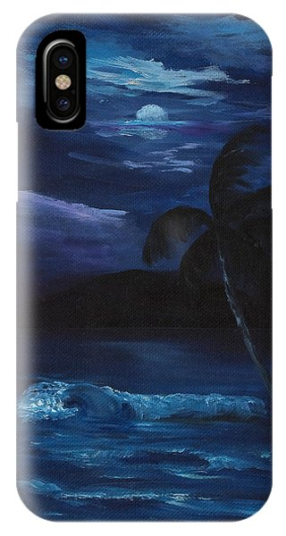 Moon Light Tropics IPhone Case