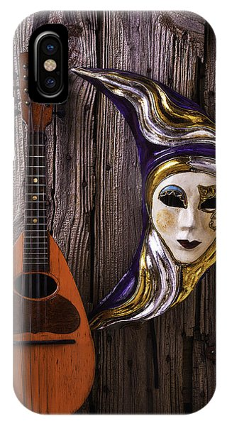 Eye Ball iPhone Case - Moon Mask And Mandolin by Garry Gay