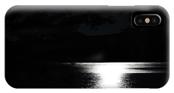 Moon On Waterton Lake IPhone Case