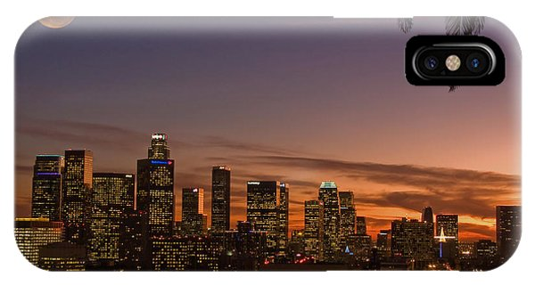 Moon Over L.a. IPhone Case