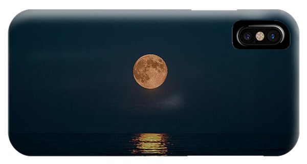 Moon Over Lake Of Shining Waters IPhone Case