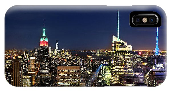 Moon Over Manhattan At Twilight Phone Case by Lee Dos Santos